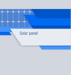 Banner with a solar panel industrial energy vector