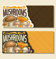 Banners for mushrooms vector