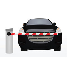 barrier in front of car vector image