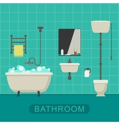 Bathroom flat banner vector