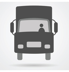 Big truck car web icon vector