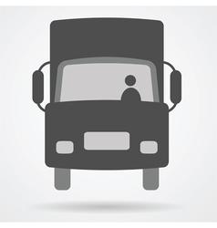 big truck car web icon vector image