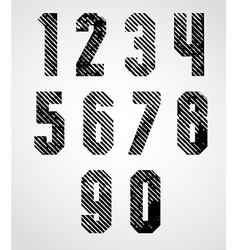 Black spotted numbers with diagonal lines on white vector