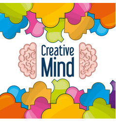 Brain icon knowledge and creativity vector