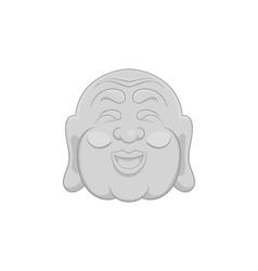 Buddha icon black monochrome style vector image