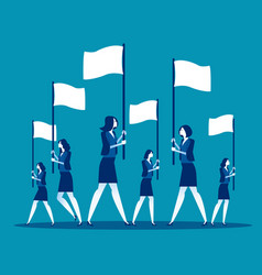 business team holding flag concept business vector image