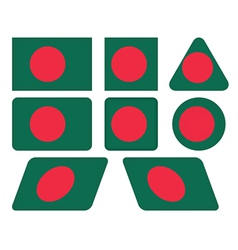 buttons with flag of Bangladesh vector image