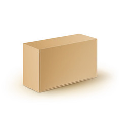 Cardboard take away box for sandwich food vector