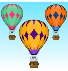Cartoon air balloons vector