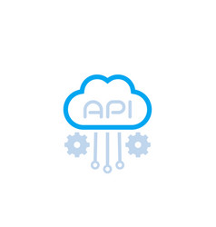 cloud api software integration icon vector image