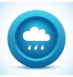Cloud blue button vector image
