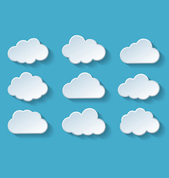 clouds with shadow vector image