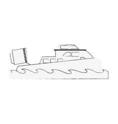 Coastguard fan boat vector