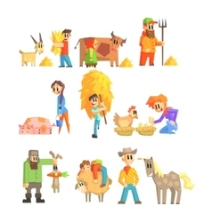 Collection Of Animal Farm vector image