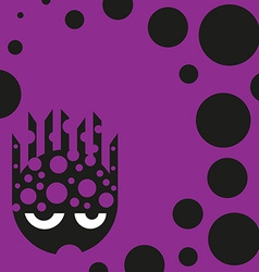Cute bubbly monster vector