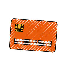 Cute credit card to pay electronic vector