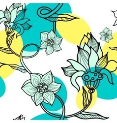 Decorative creative floral boho seamless pattern vector