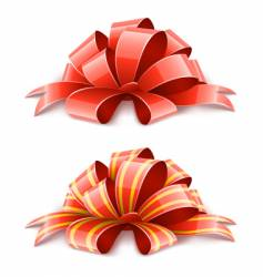Decorative ribbons vector
