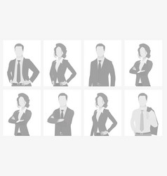 Default placeholder man and woman half-length por vector