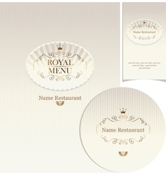 design elements for cafe or restaurant vector image vector image