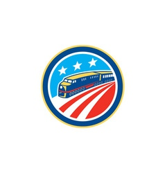 Diesel Train American Stars Stripes Retro vector image