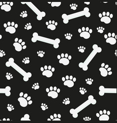 dog bones seamless pattern bone and traces of vector image