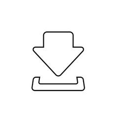 download line icon download black icon download vector image