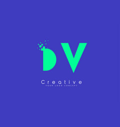 Dv letter logo design with negative space concept vector