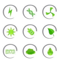 Ecological and environmental icons vector image