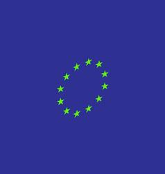 european union flag eps10 vector image