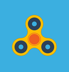 fidget spinner flat design icon vector image