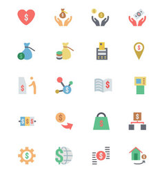 Flat Card Payment Icons 6 vector