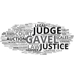 Gavel word cloud concept vector