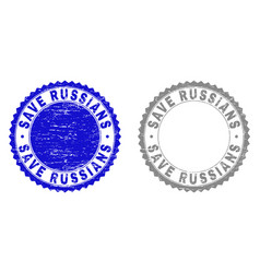 grunge save russians scratched watermarks vector image
