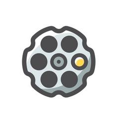 gun drum revolver icon cartoon vector image
