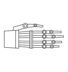 Hand of robot bionic mechanical science vector