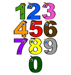 Happy numbers vector image