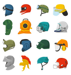Helmet helm equipment protection or safety vector