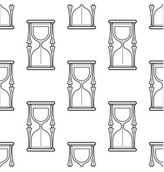 hourglass black and white seamless pattern for vector image