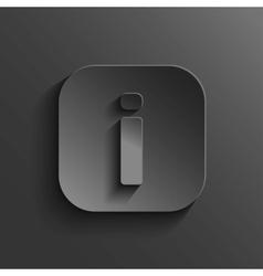 Info icon - black app button vector