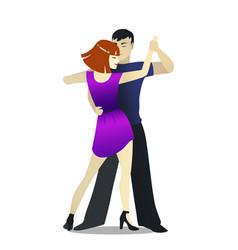 Isolated rumba dancers in cartoon style vector