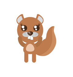 kawaii beaver animal toy vector image