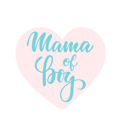mama boy inscription hand drawn lettering vector image