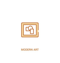 Modern art concept 2 colored icon simple line vector