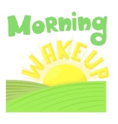 Morning wakeup icon cartoon style vector image