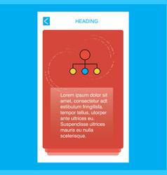 network mobile vertical banner design design vector image