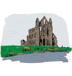 north yorkshire vector image