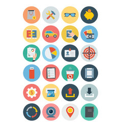 Office Flat Icons 3 vector