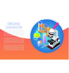 Organic chemestry education and science concept vector