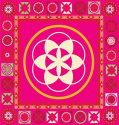Ornamental esoterics pattern with many details vector image